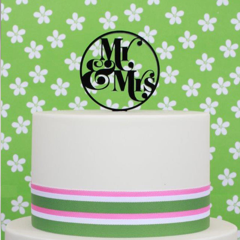 Mr & Mrs Acrylic Cake Topper
