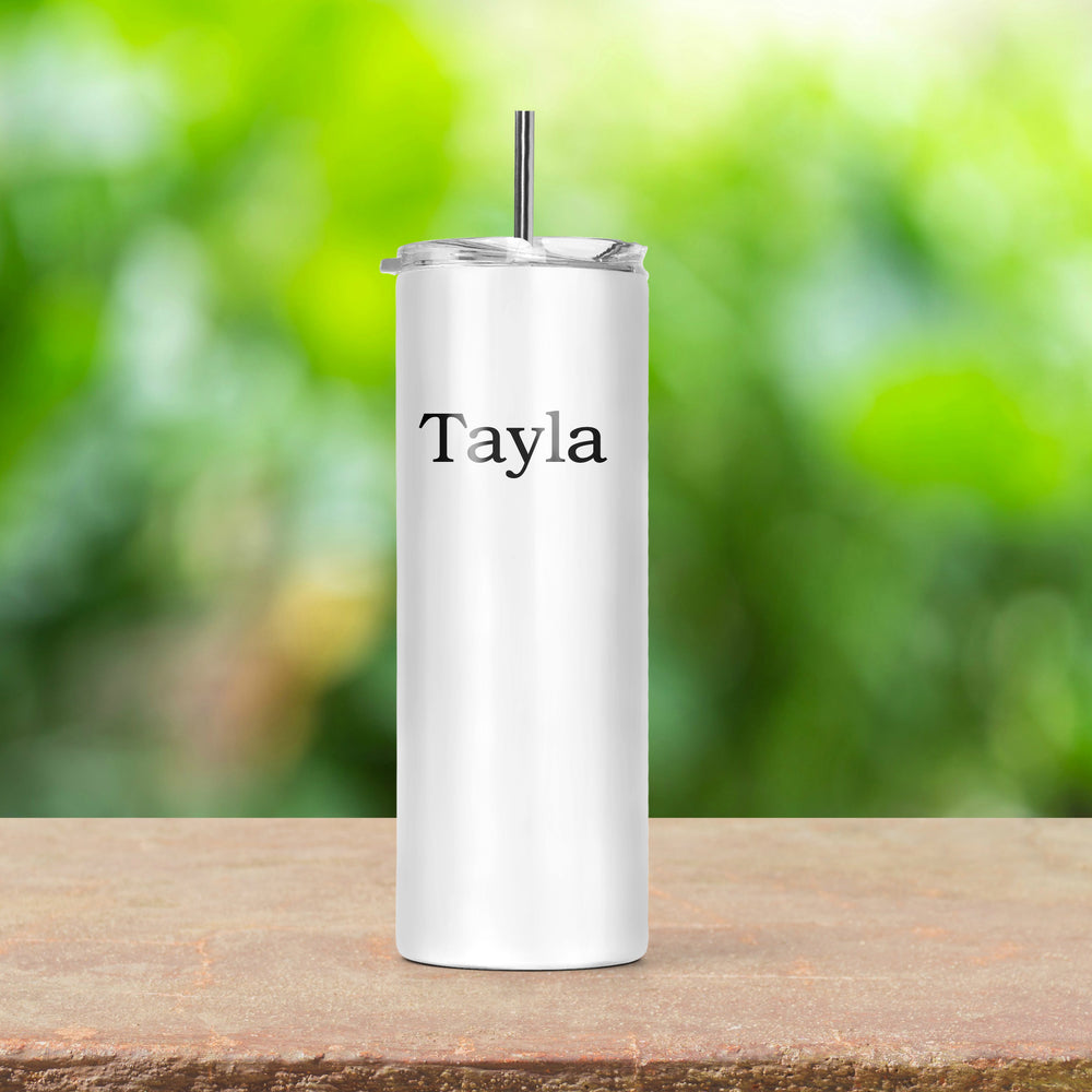 I Don't Get Drunk Personalised Skinny Tumbler with Straw