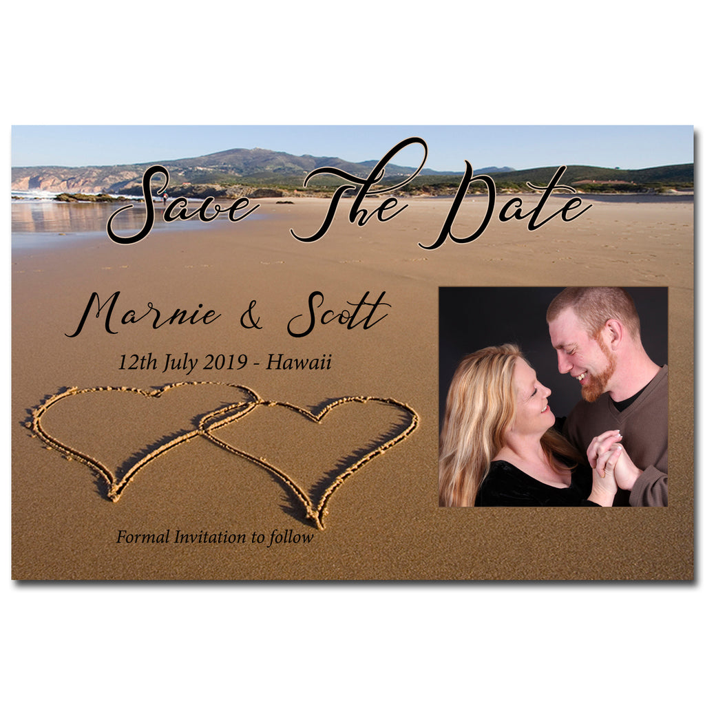 Marnie & Scott - Beach Themed Save The Date