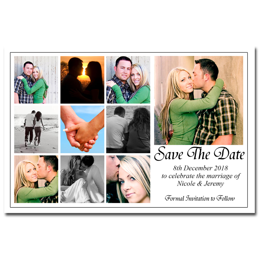 Nicole & Jeremy - Photo Collage Save The Date