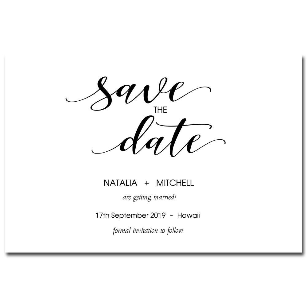 Natalia & Mitchell - Save The Date