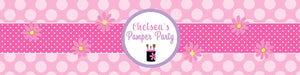 Pamper Spa Party Water Bottle Labels - Set of 5