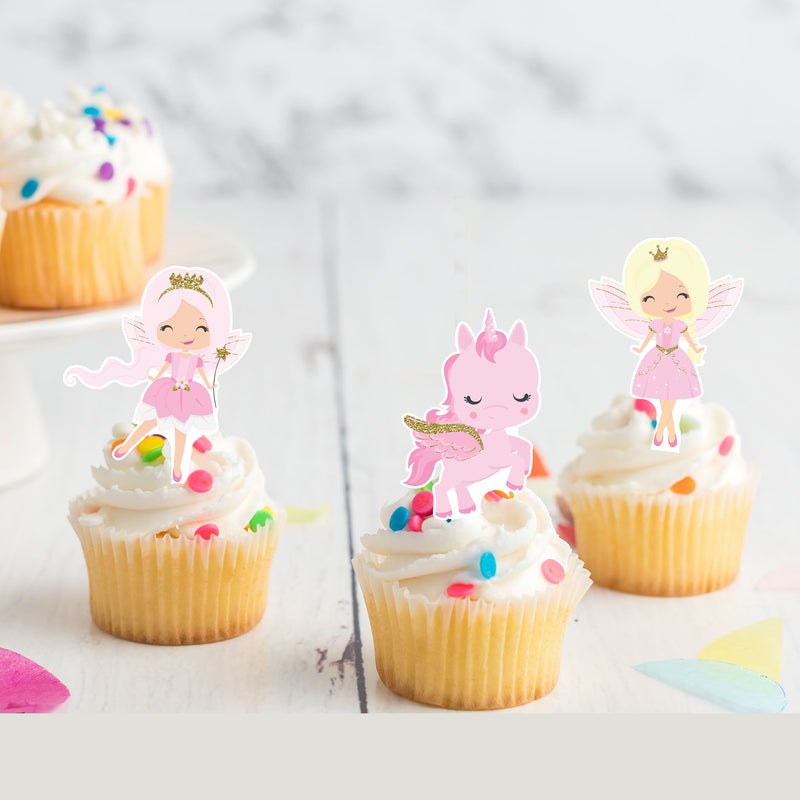Fairy Princess 'Stand-Up' Wafer Card Toppers