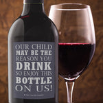 Teacher Gift Wine Bottle Labels - Set of 4