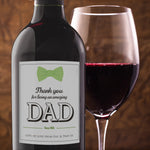 Fathers Day Birthday Wine Bottle Labels - Set of 4
