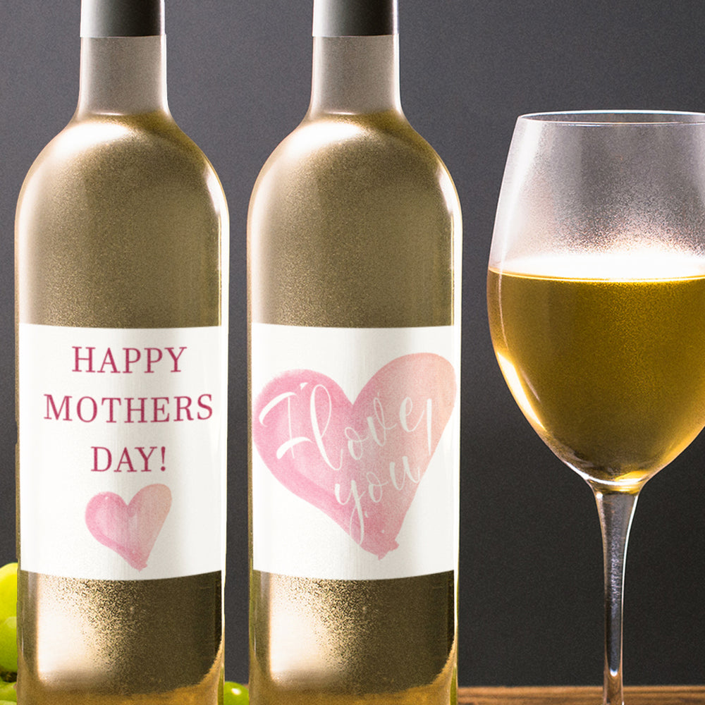 Mothers Day Mum Birthday Wine Bottle Labels - Set of 4