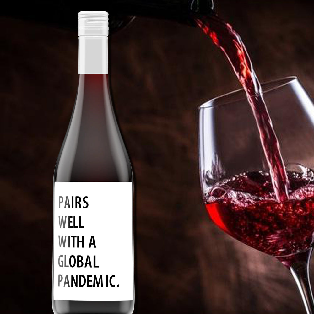 Pairs Well With a Pandemic Personalised Wine Bottle Label
