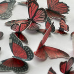 Edible Pre-cut Red Wafer Paper Butterflies