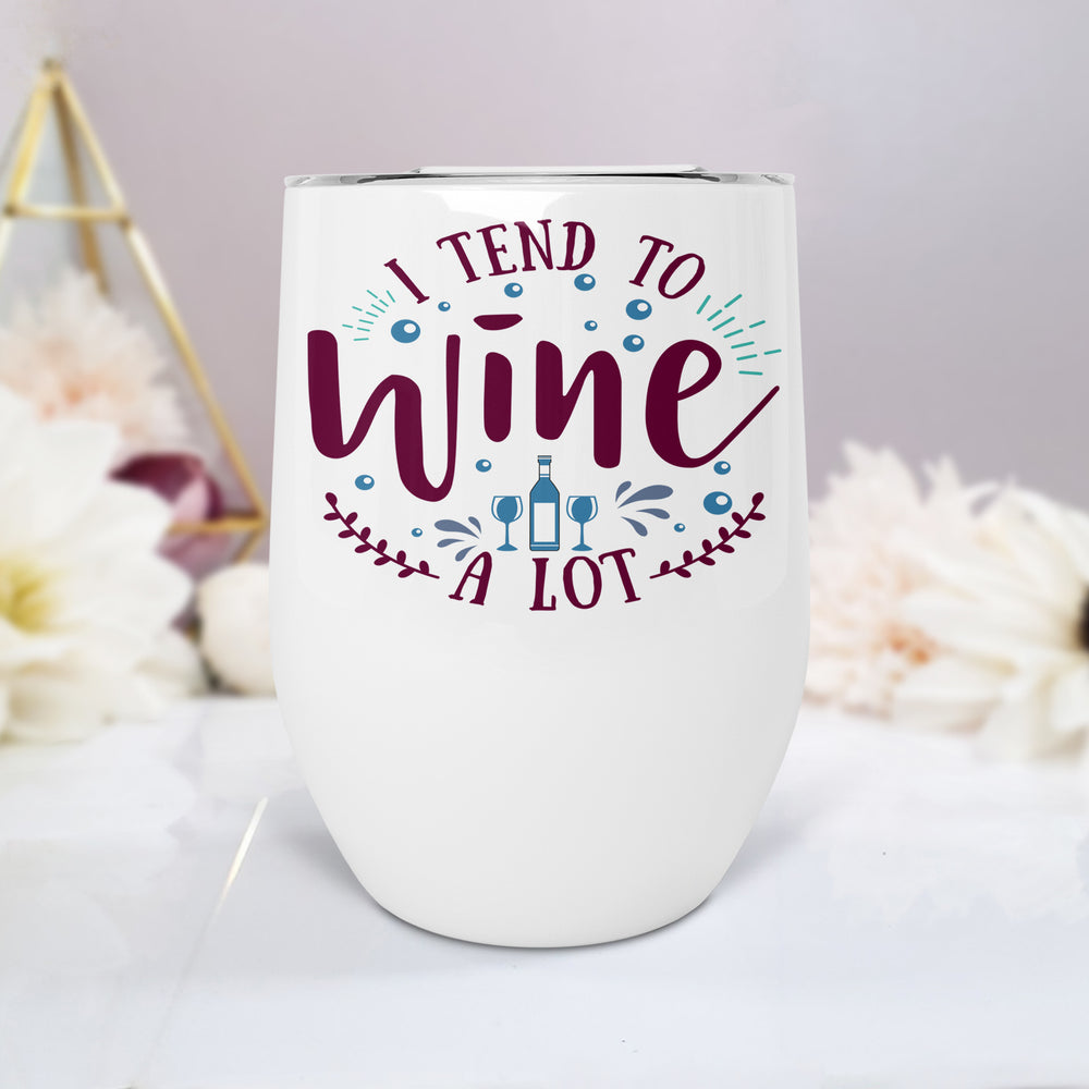 Wine Alot Personalised Stainless Steel Stemless Travel Tumbler