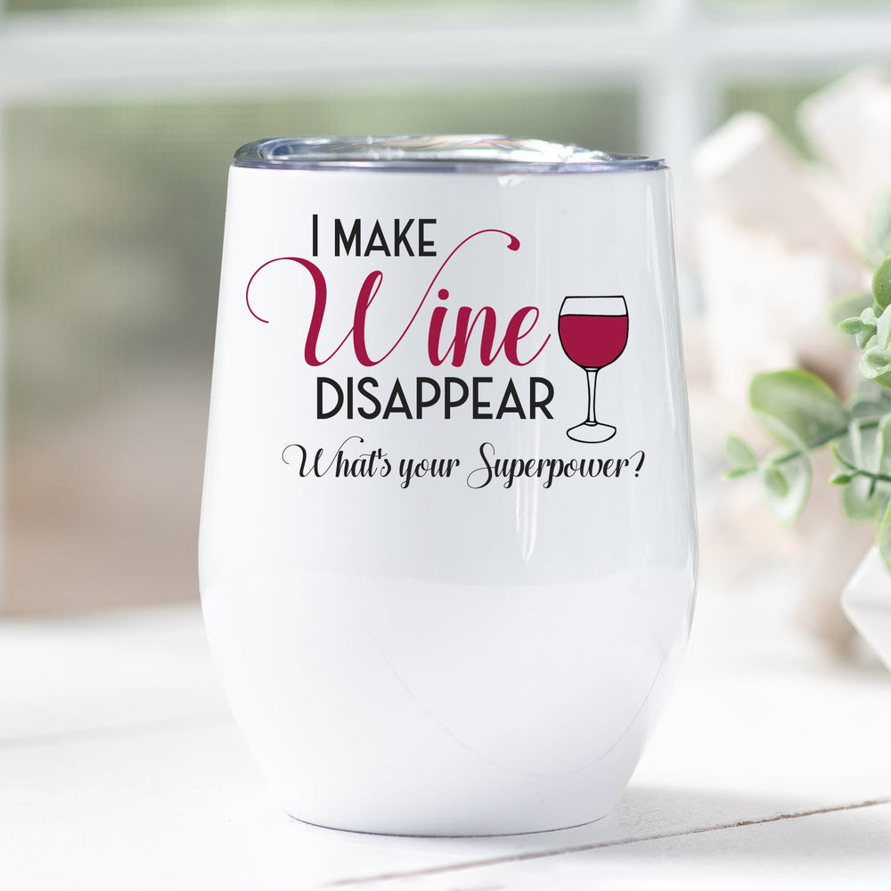 Wine Superpower Personalised Stainless Steel Stemless Tumbler