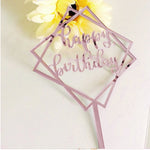 Happy Birthday Acrylic Mirror Cake Topper