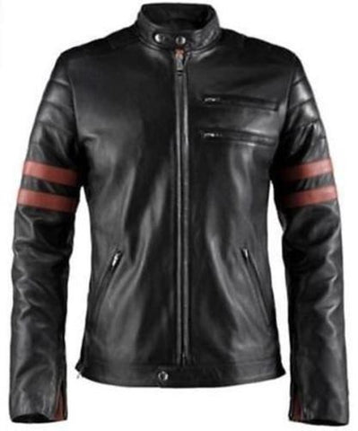 Fight Club rétro hybride Mayhem BRAD PITT Noir Veste motard