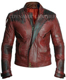 Guardians of the Galaxy Vol. 2 Star Lord Chris Pratt Maroon Faux Leather Jacket