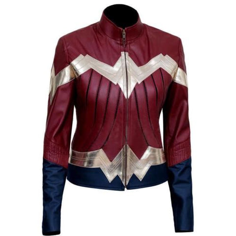 Wonder Woman New Stylish Ladies Halloween Costume Party Leather Jacket