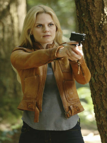 Once upon a time Emma Swan Season 4 Brown Leather Jacket