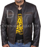 Contraband Mark Wahlberg's Mens Slim Fit REAL Cow Hide Leather Jacket-BNWT