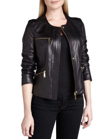 WOMEN LADIES BLACK JACKET REAL LEATHER RACING STYLE BIKER JACKET NEW XS-3XL