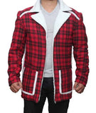 Deadpool Wade Wilson Ryan Reynolds rot Shearling Herren Mode Mantel Jacke