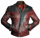 Guardians of the Galaxy Vol. 2 Star Lord Chris Pratt Maroon Leather Jacket