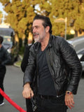 The Walking Dead, Negan , Jeffrey Dean Morgan, Nero, Giacca di Pelle