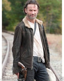 The Walking Dead Rick Grimes - Andrew Lincoln 100% Cuir Daim Veste-Neuve