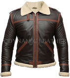 Resident Evil 4 Leon Kennedy Shearling Leather Jacket