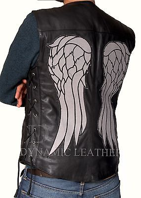 THE-WALKING-DEAD-GOVERNOR-DARYL-DIXON-ANGEL-WINGS-LEATHER-VEST-JACKET-BNWT