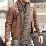 Beckham Brown Motorcycle Genuine Real Leather Biker Jacket - All Sizes