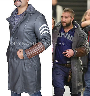 Squad,Jai Courtney,Captain Boomerang,Real Leather Coat