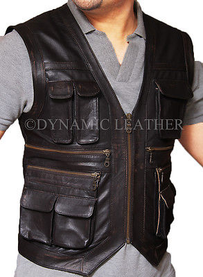 Jurassic World Chris Pratt Owen Grady Leather Vest - ALL SIZES AVAILABLE