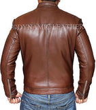 New Men's Biker Hunt Motorcycle Brown Real leather jacket - BNWT