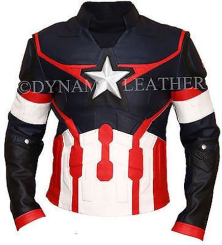 Age of Ultron Captain America Chris Evans Avengers Costume Leather Jacket
