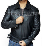 T5 Terminator Genisys Arnold Schwarzenegger Genuine Leather Jacket