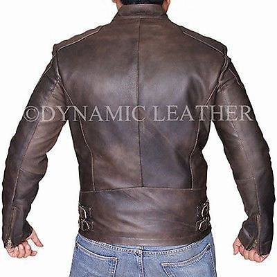 c2bec16b4 Captain America Civil War Steve Rogers Brown Distressed Cowhide Leather  Jacket
