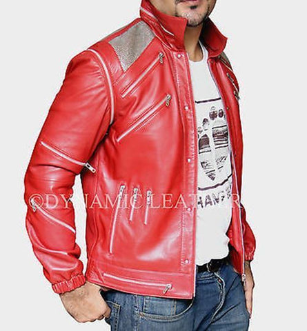 """Michael Jackson Beat it /""""MJ Beat it/"""" Real Leather Jacket With Real Metal Mesh"""