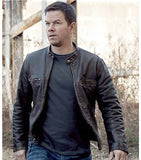 Contraband Mark Wahlberg's Mens Slim Fit Distressed REAL Leather Jacket