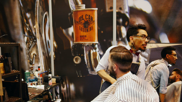 Oil Can Grooming Barber Connect Trade Show with Gio the New Kid