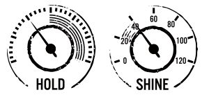 Hold and Shine Dials