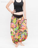 Aladdin Genie Baggy Pants Crinkle Cotton Summer flowers Festival Bloomers Trousers multi color relax