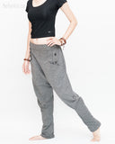 Casual Unisex Tapered Leg Bloomers Super Comfy Fun Playful Harem Pants Stretch Jersey Cotton Granite Gray walk