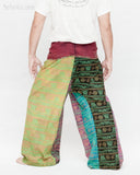 Colorful Hindu Om Yoga Stonewashed Rustic Nepali Cotton Vintage Fisherman Pants OMF-8 back