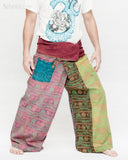 Colorful Hindu Om Yoga Stonewashed Rustic Nepali Cotton Vintage Fisherman Pants OMF-8 right