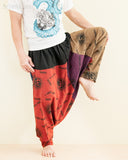 Hobo Hippie Hindu Om Baggy Harem Pants Unisex Patchwork Low Crotch Trousers (HO-OM20) dance