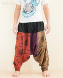 Hobo Hippie Hindu Om Baggy Harem Pants Unisex Patchwork Low Crotch Trousers (HO-OM20) front