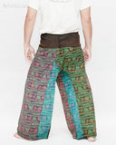 Nepali Om Yoga Stonewashed Rustic Cotton Fisherman Pants Patchwork Trousers OMF-2 back