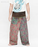 Nepali Om Yoga Stonewashed Rustic Cotton Fisherman Pants Patchwork Trousers OMF-2 front