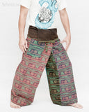 Nepali Om Yoga Stonewashed Rustic Cotton Fisherman Pants Patchwork Trousers OMF-2 right