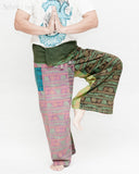 Nepali Om Yoga Stonewashed Rustic Fisherman Pants Patchwork Wrap Trousers OMF-11 namaste