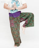 Om Stonewashed Nepali Fisherman Pants Wrap around Unique Hindu Yoga Patchwork Trousers OMF-1 namaste