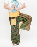 Rustic Stonewashed Nepali Cotton Om Fisherman Pants Zen Monk Patchwork Trousers OMF-12 namaste
